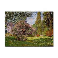 off Hand made oil painting reproduction of The Parc Monceau Paris, one of the most famous paintings by Claude Oscar Monet. In spring of Claude Oscar Monet concluded three paintings of the Parc Monceau, in . Monet Paintings, Impressionist Paintings, Landscape Paintings, Landscape Sketch, Impressionist Landscape, Post Impressionism, Claude Monet, Artist Monet, Lily Pond