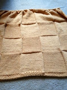 """WIP Wednesday, featuring """"Stylish Square Blanket"""" FREE knitting pattern by Susan Hanlon 