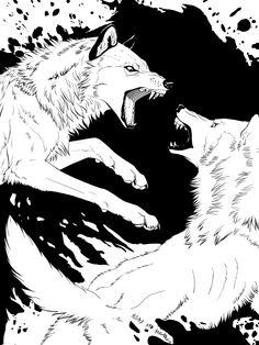 Rage - Wolf Fight by akeli.deviantart.com on @DeviantArt