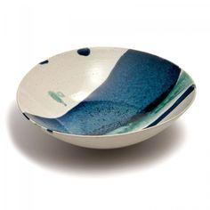 Stripe Glaze Footed Bowl, 31.5cm - Michael Taylor  - David Mellor Design