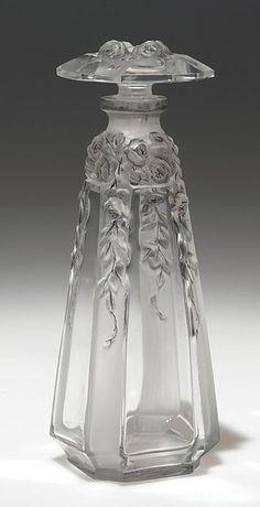 """1913 Perfume Bottle """"Vashti"""" Designed by Daillet for Gueldy 5 1/4""""."""