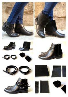 151c105dc5 Dos en uno  Nunca volverás a tirar un par de botas viejas.