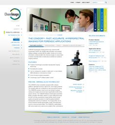 For a second time, Herrington & Company was contracted to help plan, write, design and develop a new online presence for ChemImage. This time focusing on new key market sectors and integration of new sales and lead tracking tools used by the company's internal team members.