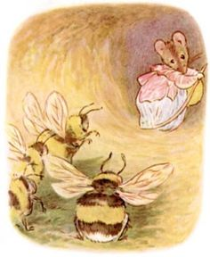 Beatrix Potter Illustrations, Beatrice Potter, Peter Rabbit And Friends, Bee Art, Bees Knees, Children's Book Illustration, Animal Illustrations, Childrens Books, Fairy Tales