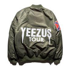 Yeezus Tour Flight Bomber Jacket - Army Green / Black