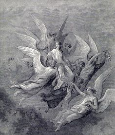 Purgatorio 30 - images from Gustave Doré's illustrations to The Divine Comedy.