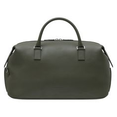 Dior Homme Autumn- Winter 2012 Leather Goods collection: Khaki green leather Polochon bag. Discover more on www.dior.com