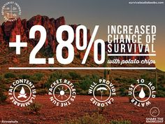 Potato chips increase your chance of survival