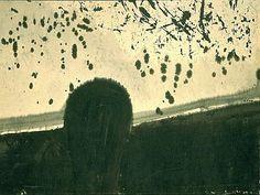 Mark Tobey, Head in Landscape on ArtStack #mark-tobey #art