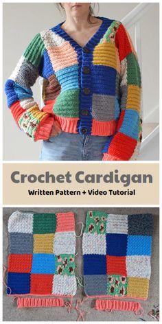 Crochet Cardigan Pattern, Crochet Headband Pattern, Crochet Coat, Sweater Knitting Patterns, Easy Crochet, Learn To Crochet, Beginner Crochet Projects, Crochet Basics, Crochet Clothes