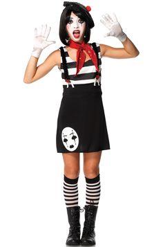 Miss Mime Teen Costume #Halloween #costumes #circus