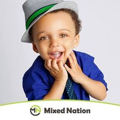 """Check out this adorable little superstar! """"This is my 2-year old son Mason. He is a perfect blend of African-American (Dad) and Irish, Polish, & German (Mom)."""" -Erin ❤️"""