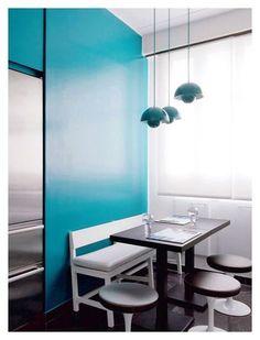 Contemporary kitchen / une cuisine contemporaine   More photos http://petitlien.fr/appartsansfaussenote