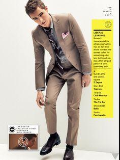 Brown suit. Love it