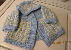 Baby Boy Sweater Bonnet Booties Set Hand Knit by BorninBuffalo