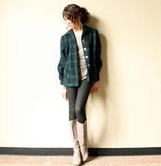 "pendleton  ""49er"" Jacket | Pendleton Plaid Wool Jacket - vintage 40s 50s Americana 49er rustic ..."