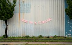 Artist Peyton Fulford started her photographic project by asking people from all over the world, via Tumblr, to send her text messages, email text and dairy entries related to heartbreak. She then turned certain phrases into banners, placed them across abandoned buildings and photographed them to