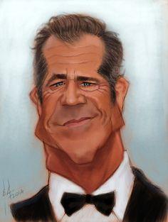 Mel Gibson by StudioCandia on DeviantArt Cartoon Faces, Funny Faces, Cartoon Art, Funny Caricatures, Celebrity Caricatures, Celebrity Drawings, Caricature Artist, Caricature Drawing, Drawing Art