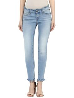 Raw Waist and Hem Skinny Fit Jeans Best Jeans, Short Tops, Skinny Fit Jeans, Cod, India, Pants, Stuff To Buy, Shopping, Collection