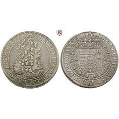 Römisch Deutsches Reich, Leopold I., Taler 1695, ss-vz/vz: Leopold I. 1657-1705. Taler 1695 Hall. Geharnischtes Brustbild nach… #coins