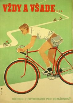 Cycling - In the Saddle Everywhere, - original vintage poster listed on… Velo Vintage, Vintage Cycles, Poster Vintage, Vintage Travel Posters, Bike Poster, Ski Posters, Bicycle Art, Cycling Art, Vintage Advertisements