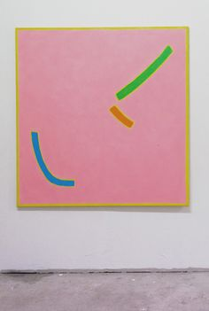 "lewishenderson:  Pink SquareOil on Canvas 135 x 140 cm2014 More works from ""PILOTENKÜCHE - Lewis Henderson and Kenneth Stitt"""