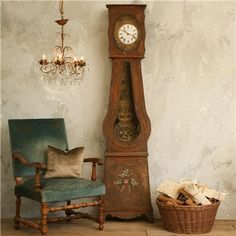 ELOQUENCE ONE OF A KIND ANTIQUE CLOCK FRENCH GRANDFATHER
