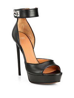 Givenchy - Clara Shark-Lock Leather Platform Sandals