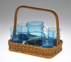 Lassi, Finland, Tumbler, Glass Art, Juice, Porcelain, Ceramics, Silver, Vintage