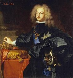 Portrait Of King Philip V Of Spain by Hyacinthe Rigauld