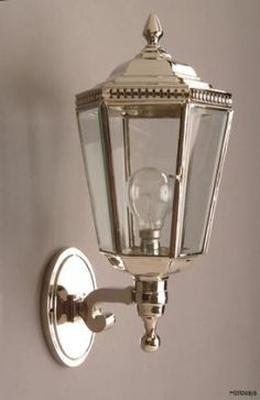 Nickel Windsor bracket lantern