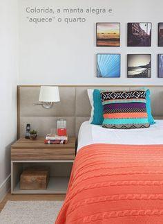 Mantas ao pé da cama... Ideias de como utilizá-las na decoração do quarto
