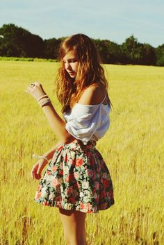 Floral skirt and baggy tee   teen outfit   summer outfit   spring outfit  