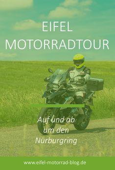 EIFEL MOTORRAD TOUR - Auf und ab um den Nürburgring /// Diese Eifel Motorradtour führt Euch kurvenreich durch verschiedene Täler zum Nürburgring und wieder zurück... Die Eifel, Das Hotel, Biker, Motorcycle, Blog, Movies, Movie Posters, Europe, Autos