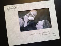 Godfather Godmother Godparents Gift Personalized Wood Photo Frame Keepsake w/ Choice of Paper Godchild Gift, Godparent Gifts, Personalized Gifts, Godfather Gifts, The Godfather, Personalized Picture Frames, Gift From Heaven, Print Your Photos, Daughter Of God