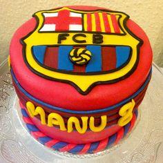 Cocinando dulce y salado: #Tarta del #FC #Barcelona en #fondant #cake