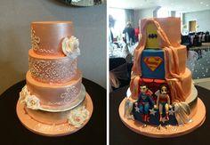 Love this Superhero Wedding Cake by Carol Moores
