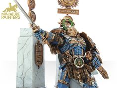GOLD Roboute Guilliman, Primarch of the Ultramarines Figure Painting, Samurai, Characters, Gold, Figurines, Samurai Warrior, Yellow, Illustrations