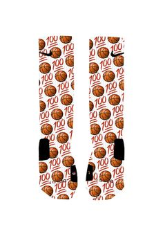 Custom Emoji Basketball Socks Custom Nike Elite by NikkisNameGifts, $20.00