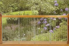 Balustrade Option  System 7 - Black Rock Balustrades - Stainless Steel Vertical Wire and Glass Balustrading and Fences