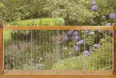 Fence steel rod wood