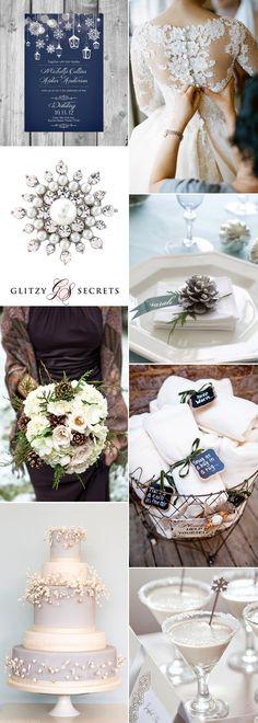magical winter wonderland wedding inspiration