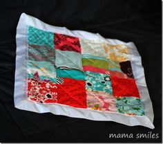 Easy DIY patchwork doll quilt tutorial :)