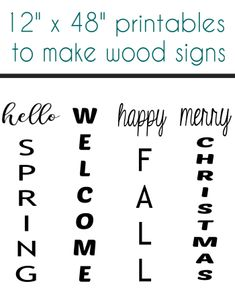 12x48 printable sayings for large wood signs