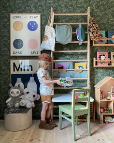 Hello beautiful parents 🙂Just a friendly reminder to Love - Play - Dare - Live 💫hang in there. It will get better. We're in this together♥️ Kidsroom by and a wall bar pimped with custom accessories from us😊 Have A Lovely Weekend, Wall Bar, Inspiration For Kids, Hello Beautiful, Play, Kid Spaces, Kidsroom, Dares, Eye Candy