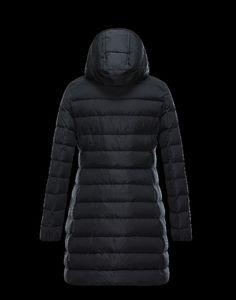 deutschland Moncler Damen GARBET Mantel Schwarz Polyester 2016-2017
