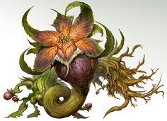 kekai-k:  Very early concepts of Evil Sylvari and various evil...