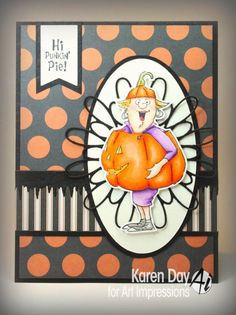 Art Impressions Rubber Stamps: Punkin Pie Set (4520)  NEW Halloween! handmade card