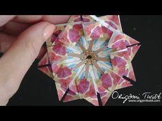 Paper Star Medallion for Making Cards or Ornaments - Teabag Folding 3