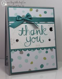 I used the Watercolor Thank You and Endless Wishes stamp sets from Stampin' Up! to create two quick holiday thank you's to share with you today.